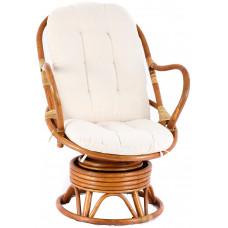 Aga PARUS rattan fotel - Honey White Előnézet