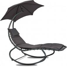 Linder Exclusiv Kerti napozóágy napernyővel - Szürke Előnézet