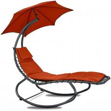 Linder Exclusiv Kerti napozóágy napernyővel - Piros Előnézet