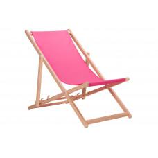 Összecsukható fa napozóágy AGA - rózsaszín Előnézet