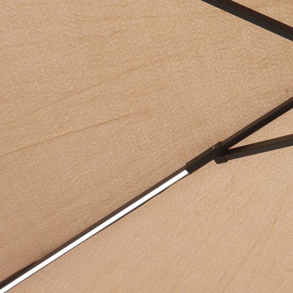 Aga EXCLUSIV 300 cm LED függő napernyő - Kávébarna