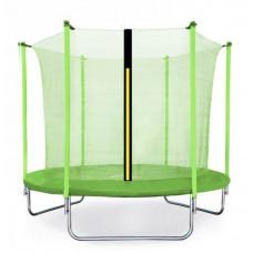 Aga SPORT FIT 180 cm trambulin belső védőhálóval -  Világos zöld Előnézet
