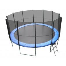 Trambulin XXL létrával és takaróponyvával Linder Exclusiv 500 cm - Kék Előnézet