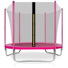 Aga SPORT FIT 250 cm trambulin belső védőhálóval - Rózsaszín