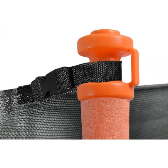 Aga SPORT FIT 180 cm trambulin belső védőhálóval - Narancssárga