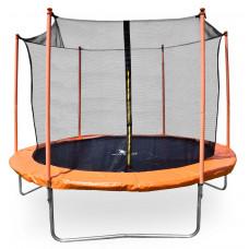 Aga SPORT FIT 250 cm trambulin belső védőhálóval - Narancssárga Előnézet