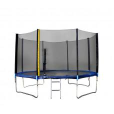 Trambulin XXL létrával és takaróponyvával Linder Exclusiv 430 cm - Kék Előnézet