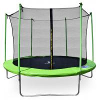 Aga SPORT FIT 250 cm trambulin belső védőhálóval - Világos zöld