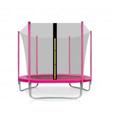Aga SPORT FIT 180 cm trambulin belső védőhálóval -  Rózsaszín Előnézet