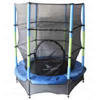 Aga gyerek trambulin védőhálóval 140 cm - Kék