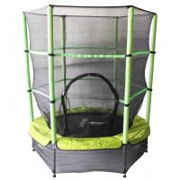Aga gyerek trambulin védőhálóval 140 cm - Zöld