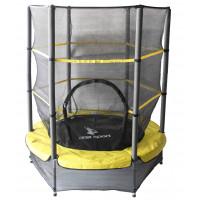 Aga gyerek trambulin védőhálóval 140 cm - Sárga