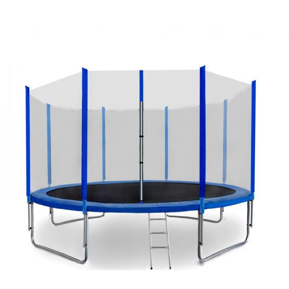 Trambulin 487 cm SPARTAN létrával és védőhálóval - kék