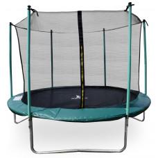 Aga SPORT FIT 250 cm trambulin belső védőhálóval - Sötét zöld Előnézet