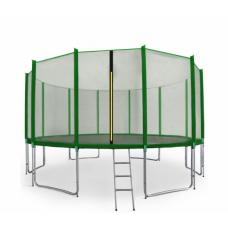 AGA SPORT PRO 500 cm trambulin + létra és cipőtartó - Sötét zöld