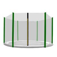 AGA védőháló 305 cm átmérőjű trambulinhoz 6 rudas - Sötét zöld