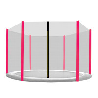 Védőháló 305 cm átmérőjű trambulinhoz 6 rudas AGA - fekete háló/rózsaszín
