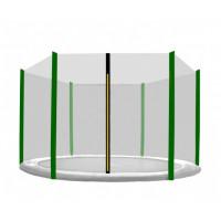 Külső védőháló 430 cm átmérőjű trambulinhoz 6 rudas AGA - Fekete/sötét zöld