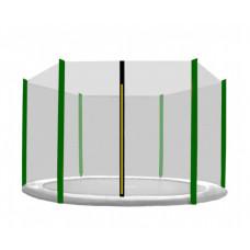 Külső védőháló 430 cm átmérőjű trambulinhoz 6 rudas AGA - Fekete/sötét zöld Előnézet