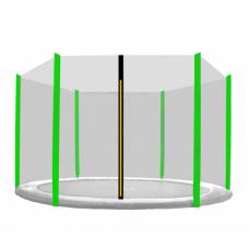 AGA védőháló 430 cm átmérőjű trambulinhoz 6 rudas - Fekete/Világos zöld Előnézet