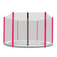 AGA védőháló 430 cm átmérőjű trambulinhoz 6 rudas - Fekete/Pink