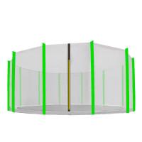 AGA védőháló 460 cm átmérőjű trambulinhoz 12 rudas - Fekete/Világos zöldzöld