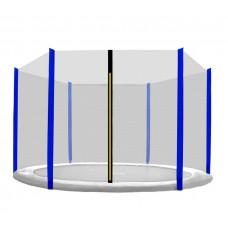 AGA védőháló 305 cm átmérőjű trambulinhoz 6 rudas- Kék Előnézet