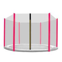 Külső védőháló 250 cm átmérőjű trambulinhoz 6 rudas AGA - Fekete/rózsaszín
