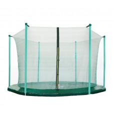 Belső védőháló 250 cm átmérőjű trambulinhoz 6 rudas AGA - Sötét zöld Előnézet