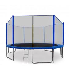 Aga SPORT PRO 430 cm trambulin + létra + cipőzsák - Kék Előnézet