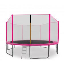 Aga SPORT PRO 430 cm trambulin + létra és cipőtartó - Rózsaszín Előnézet