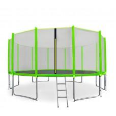 AGA SPORT PRO 460 cm trambulin + létra és cipőtartó - Világos zöld Előnézet