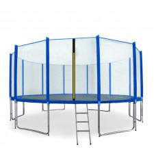 AGA SPORT PRO 500 cm trambulin + létra és cipőzsák - Kék Előnézet