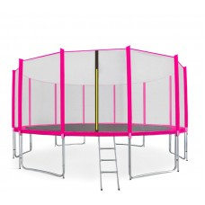 AGA SPORT PRO 500 cm trambulin + létra és cipőzsák - Rózsaszín Előnézet