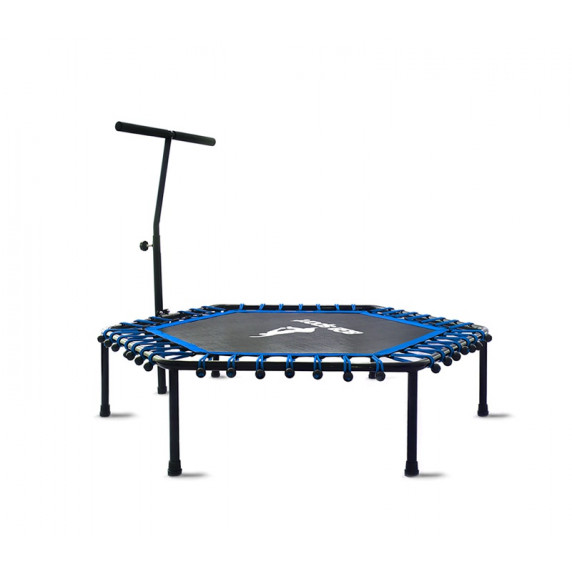 Aga FITNESS 130 cm Trambulin kapaszkodóval - Kék