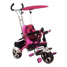 Baby Mix tricikli tolókarral - rózsaszín Előnézet