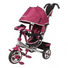 Baby Mix Lux Trike tricikli tolókarral - rózsaszín Előnézet