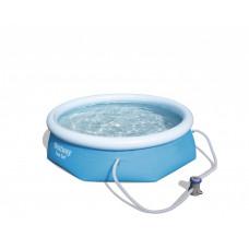 BESTWAY 57268 Fast Set 244x66 cm medence vízforgatóval Előnézet