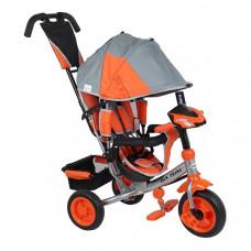 Baby Mix Lux Trike tricikli tolókarral - Szürke/narancssárga Előnézet