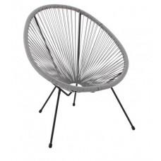 Kerti fotel GARDEN LINE FAT3518 70 x 80 x 39,5 - 86 cm - szürke Előnézet