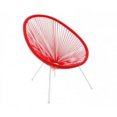 Kerti fotel GARDEN LINE FAT3532 70 x 80 x 39,5 - 86 cm - piros Előnézet