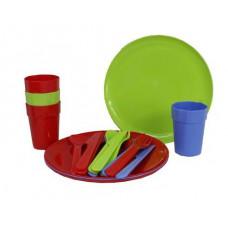 InGarden Műanyag piknik készlet 20 darabos - színes Előnézet
