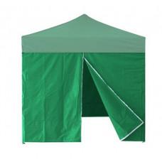 InGarden oldalfal ajtóval 3x3 m méretű sátorhoz - zöld Előnézet