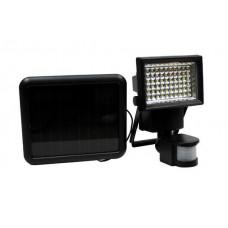 GARDEN LINE Napelemes lámpa mozgásérzékelővel 100 LED - fekete Előnézet