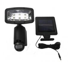 InGarden Napelemes lámpa mozgásérzékelővel 6 LED - fekete Előnézet