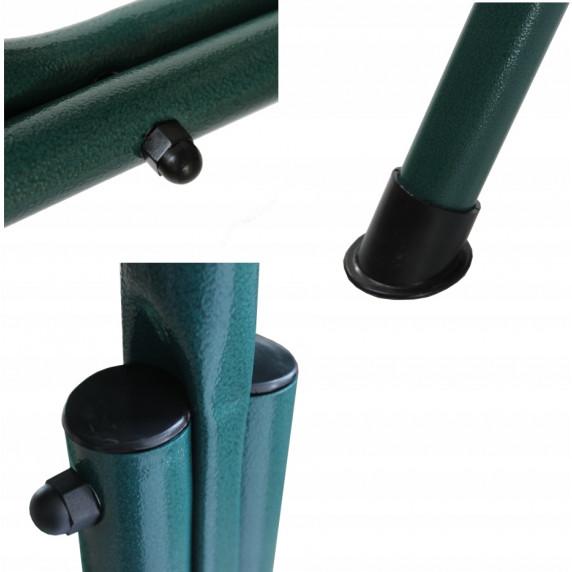 InGarden BELLA kerti hinta lábtartóval - zöld csíkos