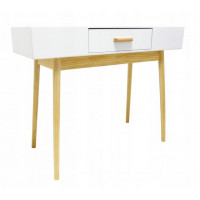 Skandináv stílusú 1 fiókos asztal 100x40x79 cm InGarden SCANDINAVIA