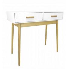 Skandináv stílusú 2 fiókos asztal 90x40x79 cm InGarden SCANDINAVIA  Előnézet