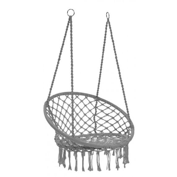 Függőszék rojtokkal  Ingarden HAM2696 80x60x120 cm szürke