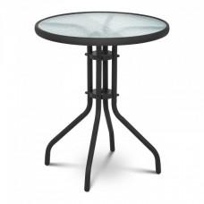 Kerti asztal 60 x60x70  cm - fekete Előnézet